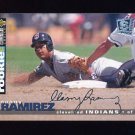 1995 Collector's Choice SE Baseball Silver Signature #117 Manny Ramirez - Cleveland Indians