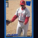 1995 Collector's Choice SE Baseball #184 Will Clark - Texas Rangers