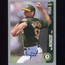 1996 Collector's Choice Baseball Silver Signature #247 Don Wengert - Oakland A's