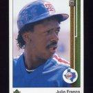 1989 Upper Deck Baseball #793 Julio Franco - Texas Rangers