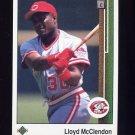 1989 Upper Deck Baseball #446 Lloyd McClendon - Cincinnati Reds