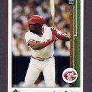 1989 Upper Deck Baseball #354 Leon Durham - Cincinnati Reds