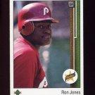 1989 Upper Deck Baseball #011 Ron Jones RC - Philadelphia Phillies