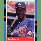 1988 Donruss Baseball #654 Ron Gant RC - Atlanta Braves
