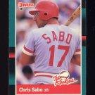 1988 Donruss Rookies Baseball #30 Chris Sabo RC - Cincinnati Reds