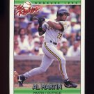 1992 Donruss Rookies Baseball #068 Al Martin RC - Pittsburgh Pirates