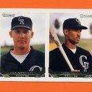 1993 Topps Gold Baseball #704 Jon Goodrich / Danny Figueroa RC - Colorado Rockies