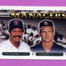 1993 Topps Gold Baseball #513 Kevin Kennedy MG / Jim Riggleman MG