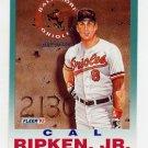 1992 Fleer Baseball #711 Cal Ripken PV - Baltimore Orioles