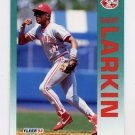 1992 Fleer Baseball #411 Barry Larkin - Cincinnati Reds