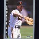1993 Fleer Baseball #154 Will Clark - San Francisco Giants