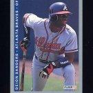 1993 Fleer Baseball #013 Deion Sanders - Atlanta Braves