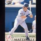 1995 Pacific Baseball #299 Don Mattingly - New York Yankees