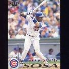 1995 Pacific Baseball #079 Sammy Sosa - Chicago Cubs