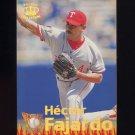 1995 Pacific Baseball Latinos Destacados #12 Hector Fajardo - Texas Rangers