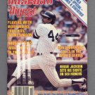 Baseball Digest October 1980 with Reggie Jackson of the New York Yankees on the Cover
