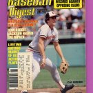 Baseball Digest June 1983 with Cal Ripken of the Baltimore Orioles on the Cover