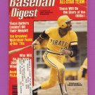Baseball Digest November 1979 with Omar Moreno of the Pittsburgh Pirates on the Cover