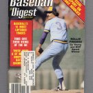Baseball Digest March 1982 with Rollie Fingers of the Milwaukee Brewers on the Cover