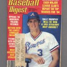 Baseball Digest March 1984 with Dale Murphy of the Atlanta Braves on the Cover