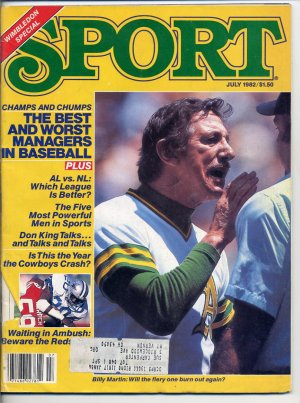 Sport Magazine July 1982 with Billy Martin of the Oakland A's on the Cover