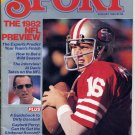 Sport Magazine August 1982 with Joe Montana of the San Francisco 49ers on the Cover