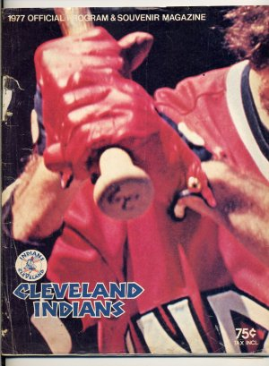 1977 Cleveland Indians Official Program and Souvenir Magazine