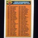 1990 Bowman Baseball #528 Checklist 397-528
