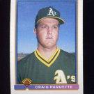 1991 Bowman Baseball #236 Craig Paquette RC - Oakland A's