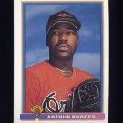 1991 Bowman Baseball #095 Arthur Rhodes RC - Baltimore Orioles