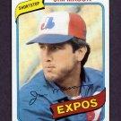 1980 Topps Baseball #497 Jim Mason - Montreal Expos