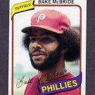 1980 Topps Baseball #495 Bake McBride - Philadelphia Phillies