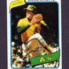 1980 Topps Baseball #494 Craig Minetto RC - Oakland A's