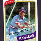 1980 Topps Baseball #485 Mickey Rivers - Texas Rangers VgEx