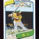 1980 Topps Baseball #482 Rickey Henderson RC - Oakland A's