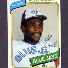 1980 Topps Baseball #444 Alvis Woods - Toronto Blue Jays