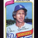 1980 Topps Baseball #440 Don Sutton - Los Angeles Dodgers G