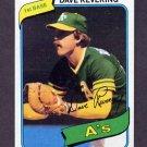 1980 Topps Baseball #438 Dave Revering - Oakland A's