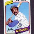 1980 Topps Baseball #430 Larry Hisle - Milwaukee Brewers