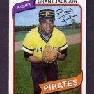 1980 Topps Baseball #426 Grant Jackson - Pittsburgh Pirates