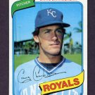 1980 Topps Baseball #417 Craig Chamberlain RC - Kansas City Royals