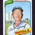 1980 Topps Baseball #409 Paul Splittorff - Kansas City Royals