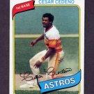 1980 Topps Baseball #370 Cesar Cedeno - Houston Astros