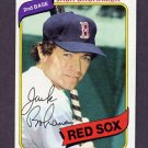 1980 Topps Baseball #349 Jack Brohamer - Boston Red Sox