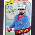 1980 Topps Baseball #345 Larry Parrish - Montreal Expos