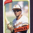1980 Topps Baseball #340 Ken Singleton - Baltimore Orioles G