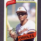 1980 Topps Baseball #340 Ken Singleton - Baltimore Orioles Ex