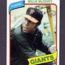 1980 Topps Baseball #335 Willie McCovey - San Francisco Giants ExMt