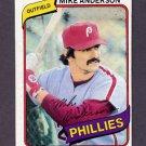 1980 Topps Baseball #317 Mike Anderson - Philadelphia Phillies