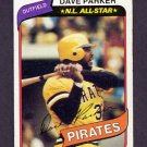 1980 Topps Baseball #310 Dave Parker - Pittsburgh Pirates Vg